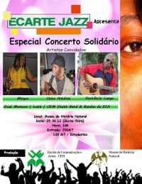 Poster: Maputo, 'Ecarte Jazz' at Museu de História Natural: A Special Concert of Solidarity by Mingas, Chicao Antonio, Hortêncio Langa and more...