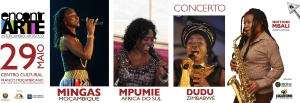 Poster: FLAME concert at CCFM in Maputo on May 29, 2010