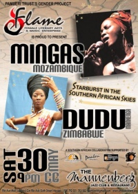 Harare, Zimbabwe:  FLAME (Female Literary Arts & Music Enterprise) at the Mannenberg Jazz Club, May 30, 2009