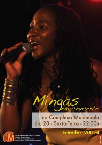 Poster: Mingas at Complexo Mulombela, September 28, 2012