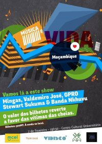Maputo, Centro Cultural Universitário;   Concert in support of flood victims.