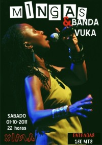 Poster: Mingas at Xima Bar in Maputo, October 1, 2011